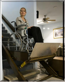 CARE:  Butler Mobility Inclined Platform Wheelchair Lift